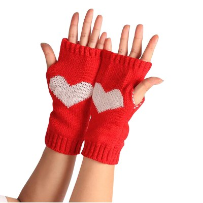 Women's Winter Outdoor Gloves Wool Warm Care Gloves Knitted Gloves