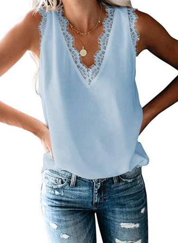 Women's Casual Loose Solid Vest  & Tops
