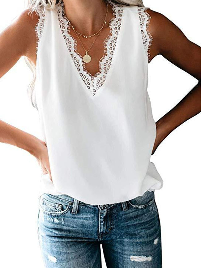 Women's Casual Loose Solid Vest  & Tops