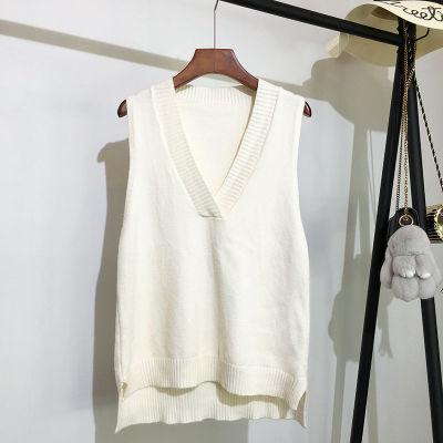 V-neck knitted vest women's sweater loose wild sweater vest
