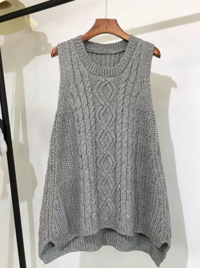 Autumn And Winter Clothing Thick Wool Vest Female Knitted Vest