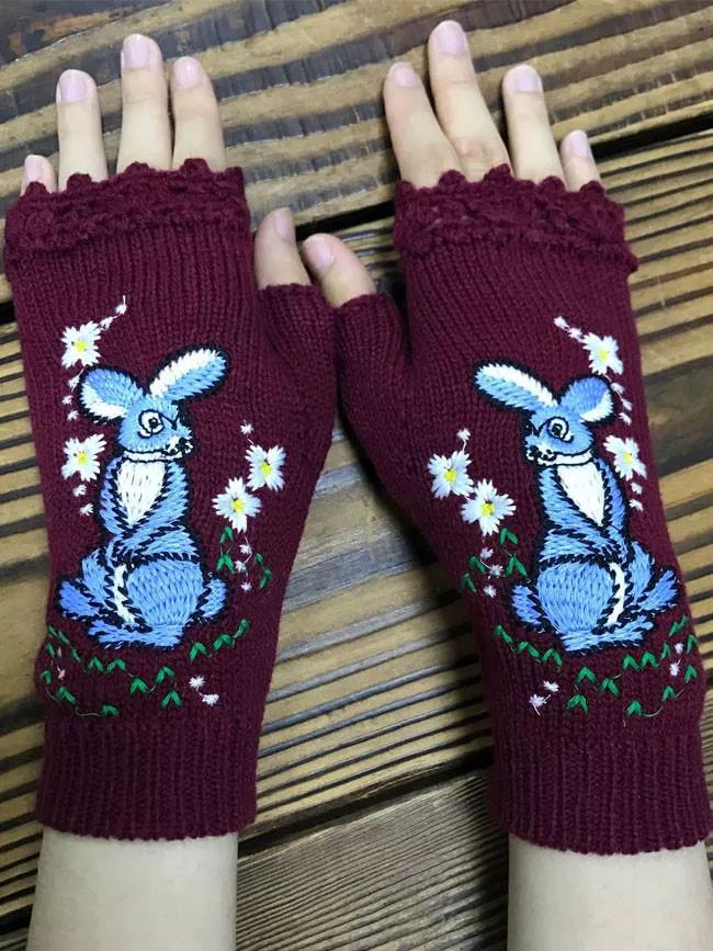 Cotton-Blend Gloves & Mittens