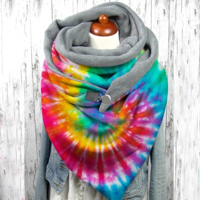 Tie-Dye Printing Scarves Soft Wrap Casual Shawls Windproof Warm