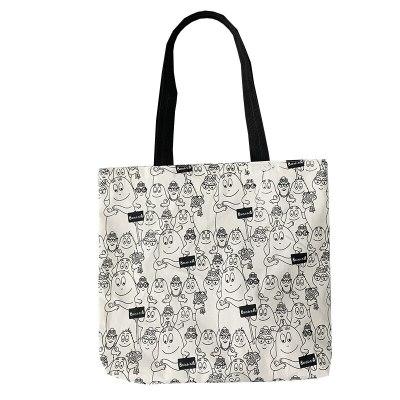 Large Handbags Canvas Shoulder Bag Cute Cartoon Cotton Cloth Eco Shopping Bag