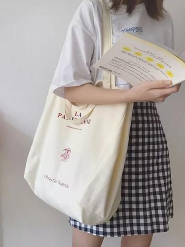 Women Canvas Shopping Bags Extra Large Reusable Eco Friendly Cloth Handbag
