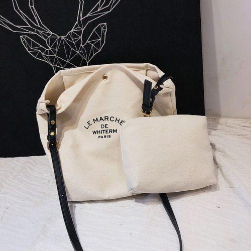 Simplicity Large Capacity girl's Canvas Tote Shoulder Bag Shopping Bag