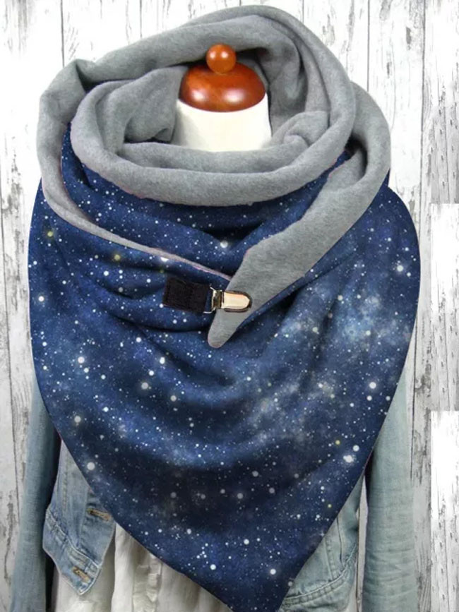Sky Print Scarf Women Winter Warm Neck Wrap Shawl Scarves