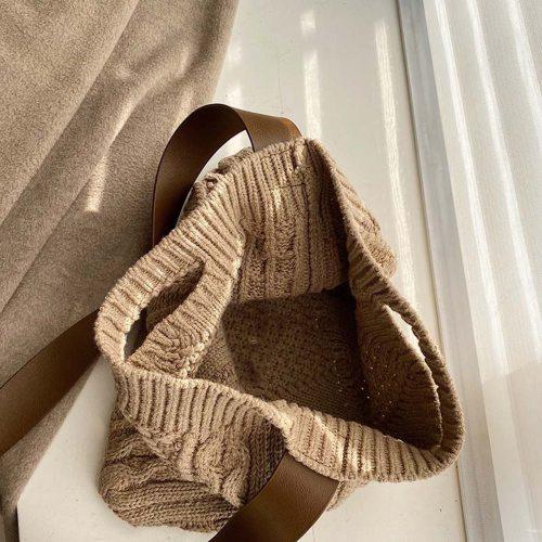 Woolen Knitted Retro Chic Big Capacity Shoulder Bag