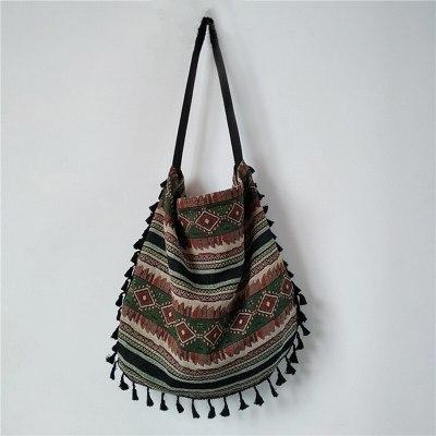 Vintage Bohemian Fringe Shoulder Bag Women Tassel Handbags