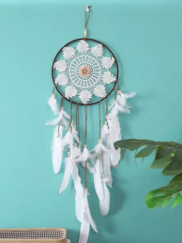 Feather Dream Catchers Big Round 25cm Metal Ring Hoop Hanging Home Decorations