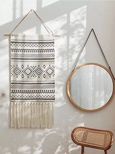 Woven Wall Hanging Macrame Tapestry Home Decor Geometric Art Decor Boho