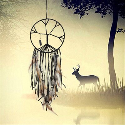 Vintage Life Tree Dream catcher Feather Handmade Home Decor