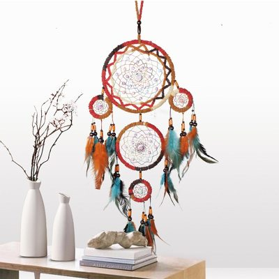 Vintage Handmade Indian Dream Catchers Metal Ring Hoop Home Decorative Craft