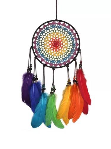 Colorful Feather Dream Catchers Home Decor Ornaments Hanging Dreamcatcher