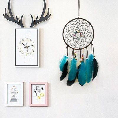 Dream Catchers Metal Ring Hoop Wedding Home Decor Wall Hanging Feather