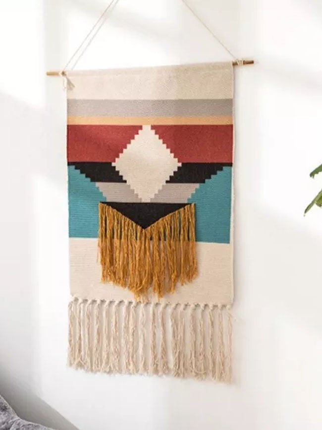 Macrame Tapestry Hand Woven Bohemian Wall Hanging Tapestries Apartment Home Decor