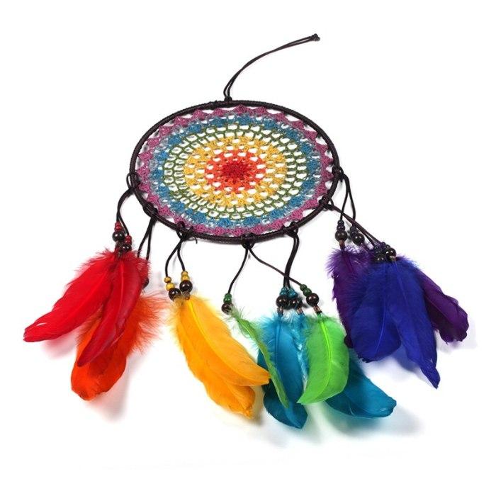 Colorful Feather Dream Catchers Home Decor Ornaments Hanging Dreamcatcher