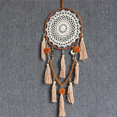 Fringed Handmade Round Metal Ring Circle Wall Hanging Room Decorations