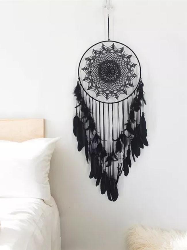 Handmade Feather Dream Catchers 40cm Large Round Metal Home Decor