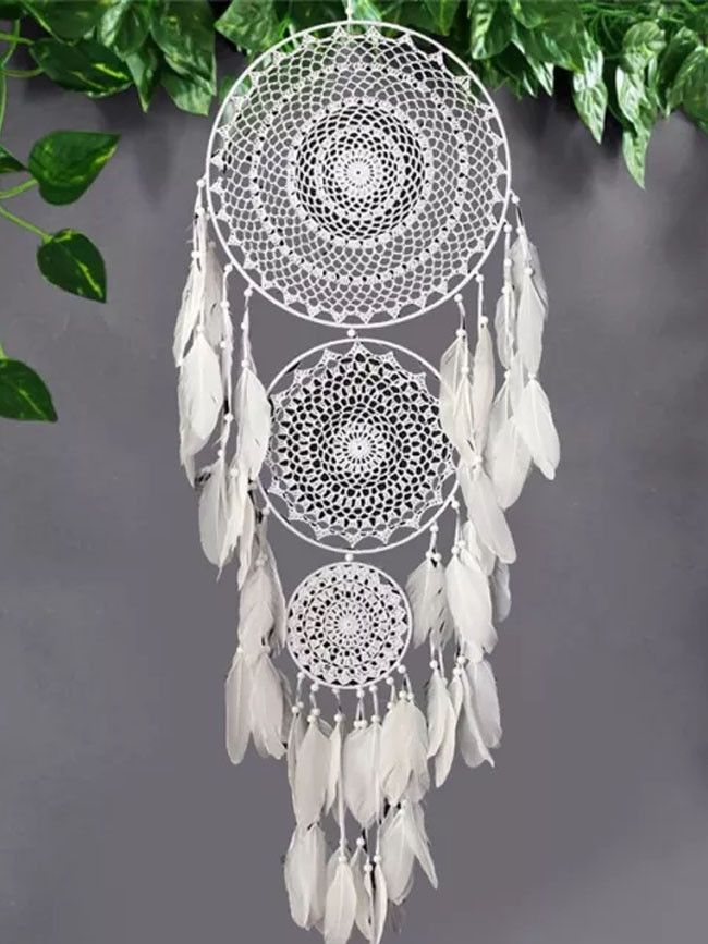 Metal Ring Circle Decorative Wall Hanging Feather Dream Catchers Home Decor