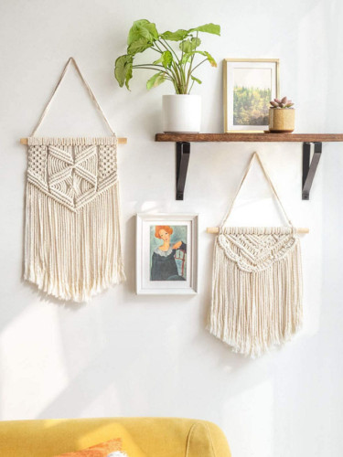 Nordic Bohemian Handwoven Cotton Rope Tassel Wall Decoration
