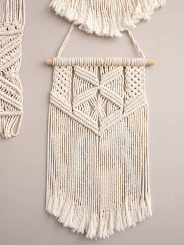 Nordic Bohemian Handwoven Cotton Rope Tassel Wall Decoration