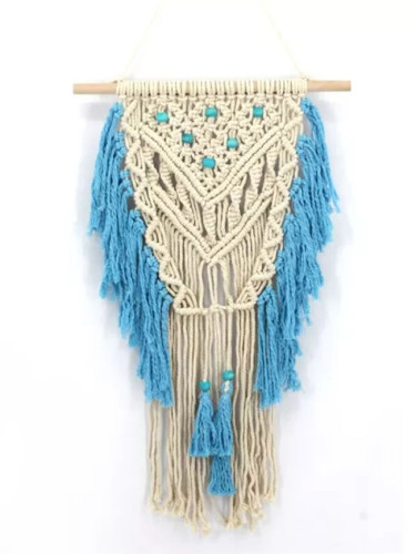 Handmade Bohemian Tapestry Macrame Vintage Wedding Backdrop Chic Home Decorations