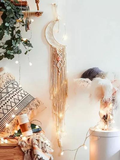 Bohemian Chic Wall Hanging Tapestry Mandala Moon Dream catcher Decor