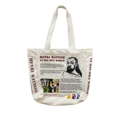 Women Canvas Shoulder Bag Colourist Printing Shopping Bags Book Bag Cotton Cloth Tote