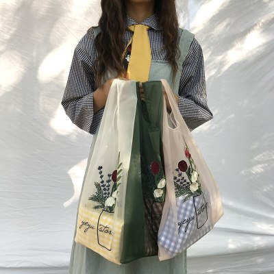 Women Tote Organza Yarn Cloth Embroidery Handbag High Quality Eco Hand Bags