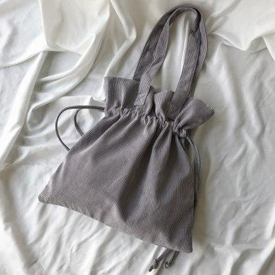 Corduroy Shoulder Bags Large Capacity Drawstring Handbag