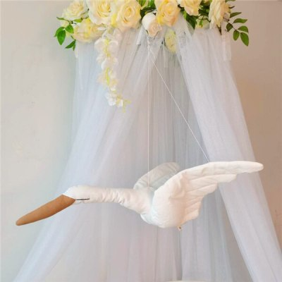 wall hanging Swan Plush Stuffed Doll fabric hanging ornaments baby soothing pillow