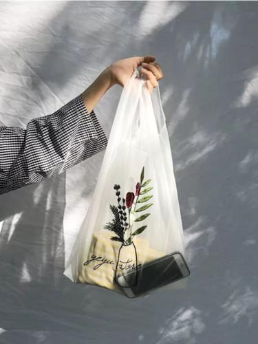 Women Tote Organza Yarn Cloth Embroidery Handbag High Quality Eco Hand Bags