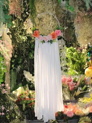 Outdoor Wedding Decorations Dream Catchers White Fringed Handmade 30cm