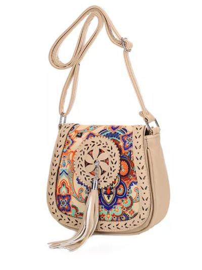 Vintage National Style Shoulder Bag Embroidery Tassel Tote Messenger Bags