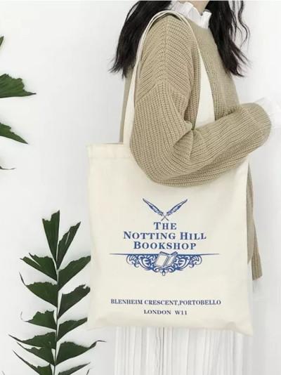 Women Canvas Shoulder Bag Cotton Cloth Handbag Simple Eco Shopping Bags