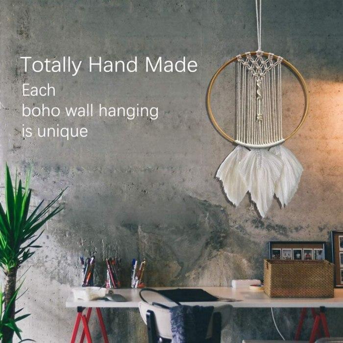 Dream Catchers Woven Feather Decoration Boho Wall Decor