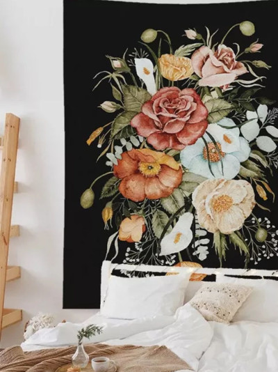 Flowers Tapestry Art Bohemian Printed Home Decoration