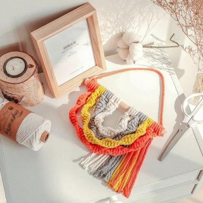 Handmade Woven Macrame Wall Tapestry Wedding Wall Decoration Home Decor