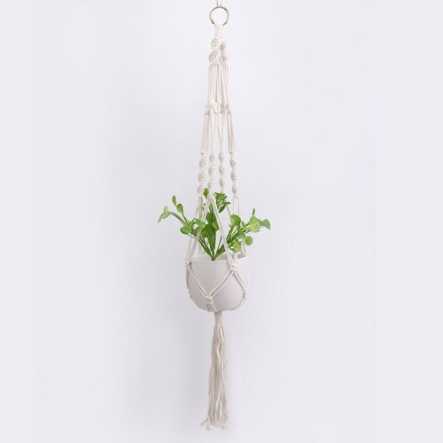 Macrame Wall Hanging Decoration Net Handmade Woven Pure Cotton Rope Beads Boho Decor