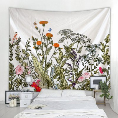 flowers printing wall mounted bohemian tapestry decoration