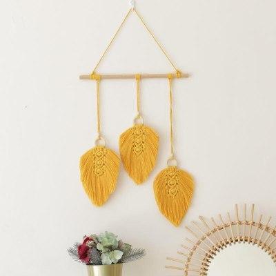 6 Colors Macrame Leaves Cotton Handwoven Tapestry Boho Decor
