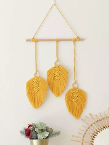 6 Colors Macrame Leaves Cotton Handwoven Tapestry Boho Decor