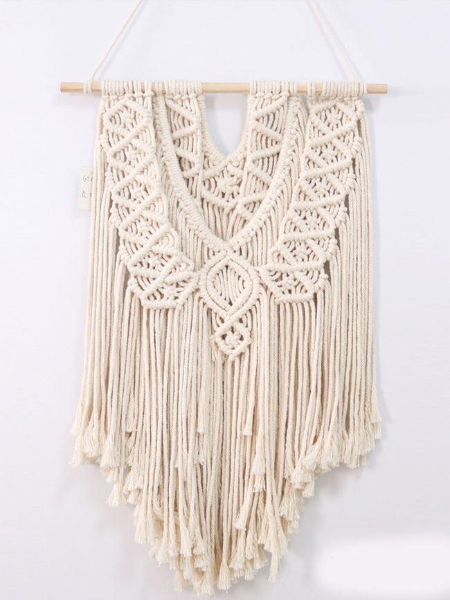Cotton rope handmade tapestry wedding decoration bohemian woven tapestry