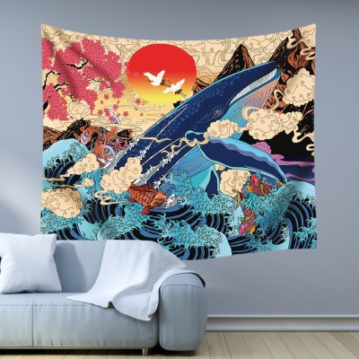 Tapestry sunlight wave wall hanging fabric bohemian home decor