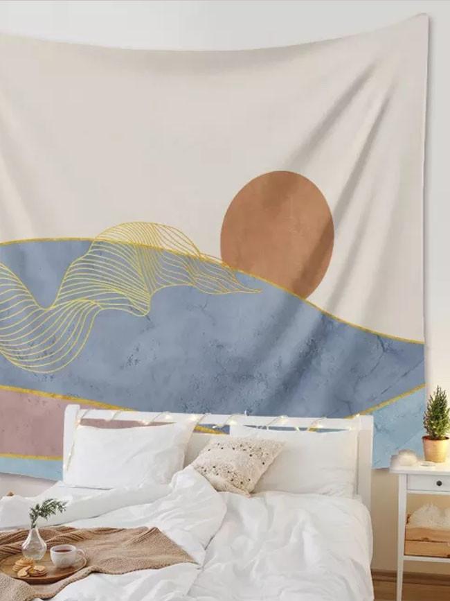 Pink Sun Moon Mandala Tapestry Bohemian Wall Tapestry Home Decoration