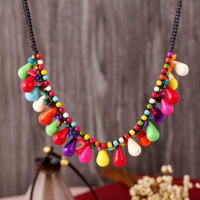 Chokers Necklaces for Women Semiprecious Stones Beaded Necklaces