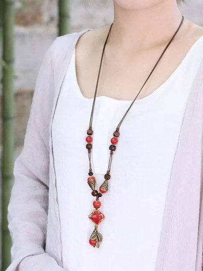 Women Handmade Long Tassel Ethnic Jewelry Geometric Bijoux Accessories