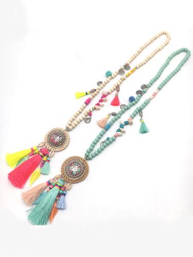 Bohemia Necklace Ethnic Necklace Long Tassel Vintage Necklaces