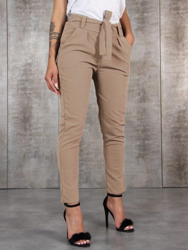 Casual Slim Chiffon Thin Pants For Women High Waist Pants Trousers